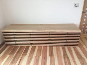 吉野杉無垢テレビボード