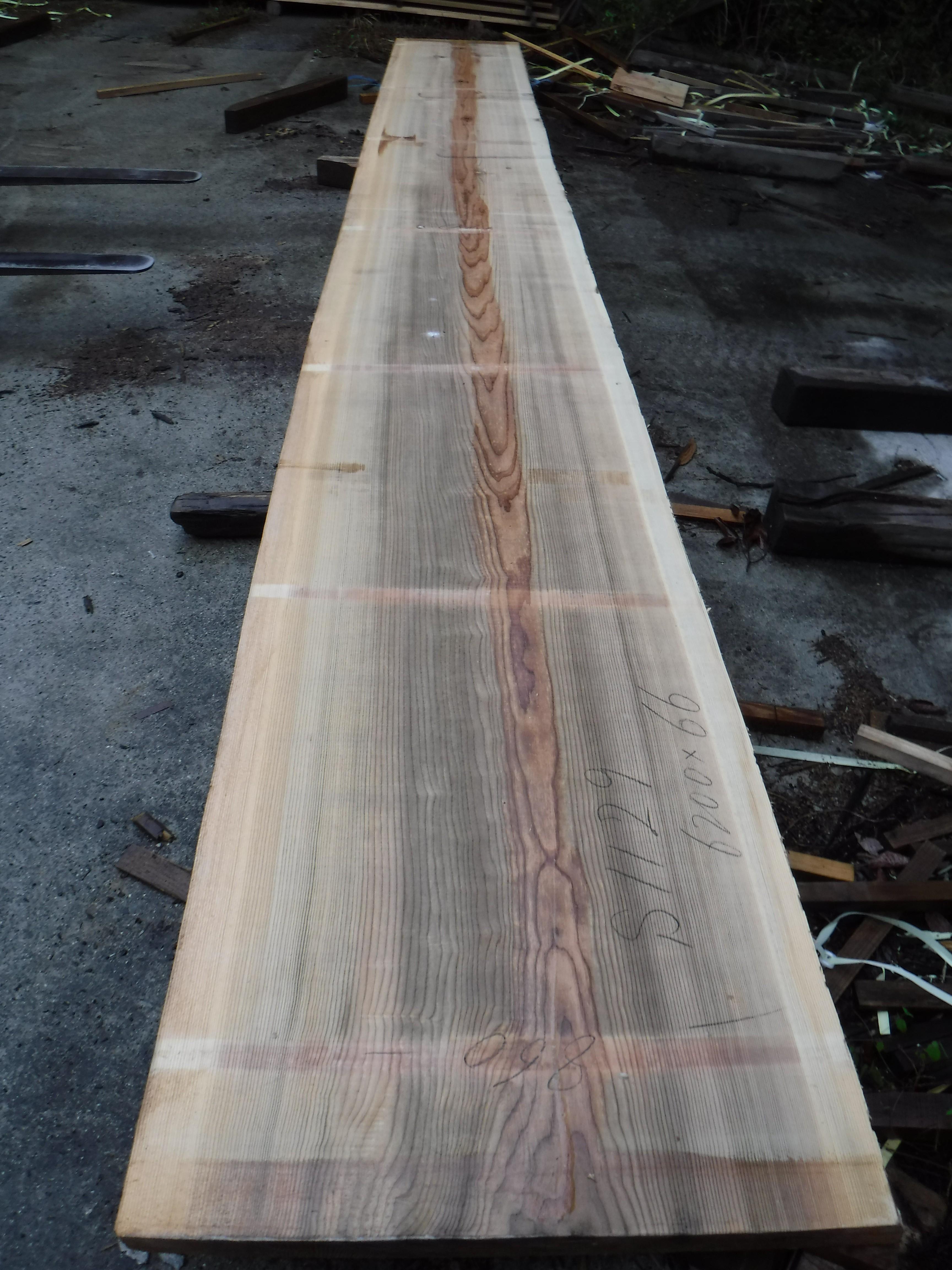 吉野杉一枚板s1129