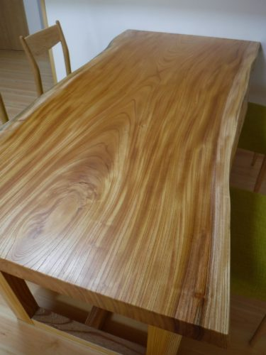 無垢テーブル用欅一枚板