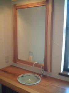 杉手洗い、鏡