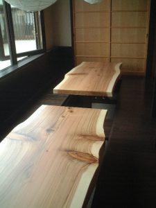 店舗テーブル杉