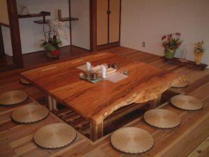 栃一枚板店舗テーブル