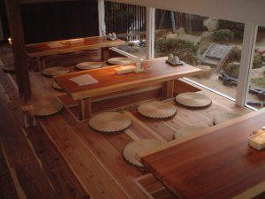 吉野杉一枚板店舗テーブル