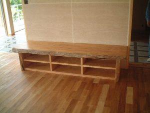 山桜一枚板TVボード
