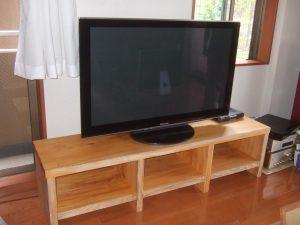 欅一枚板テレビ台