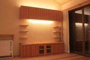 吉野杉壁面TVボード