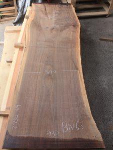 ブラックウォールナット一枚板BW63