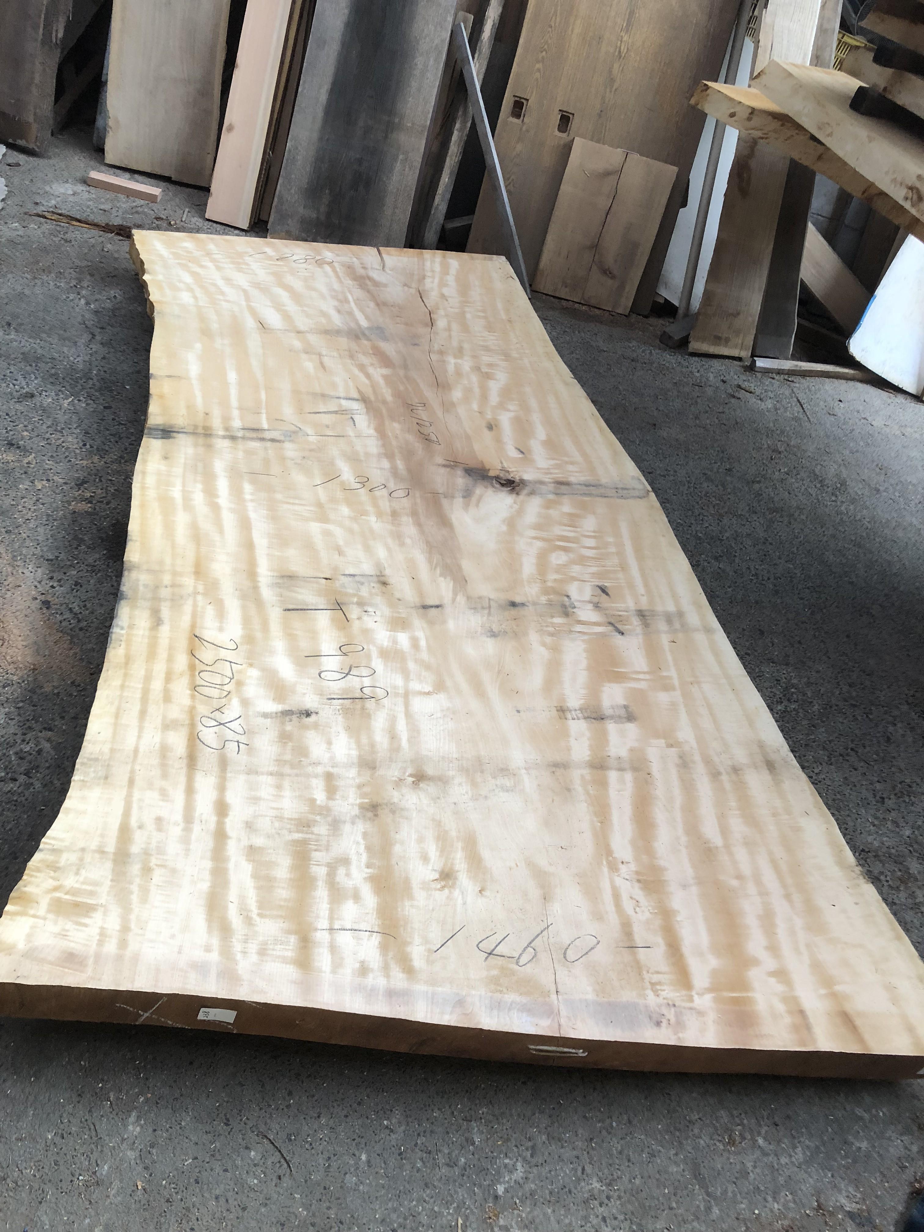 栃の木一枚板t989