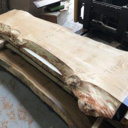 栃の木一枚板t995