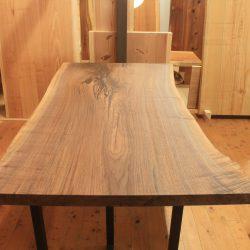 ウォールナット一枚板ダイニングテーブルbws-07dt