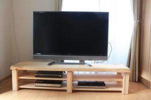 桧一枚板TVボード