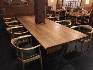 栗無垢テーブル