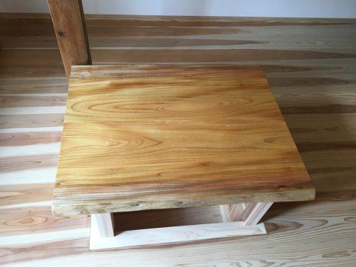 無垢テーブル用欅2枚ハギ