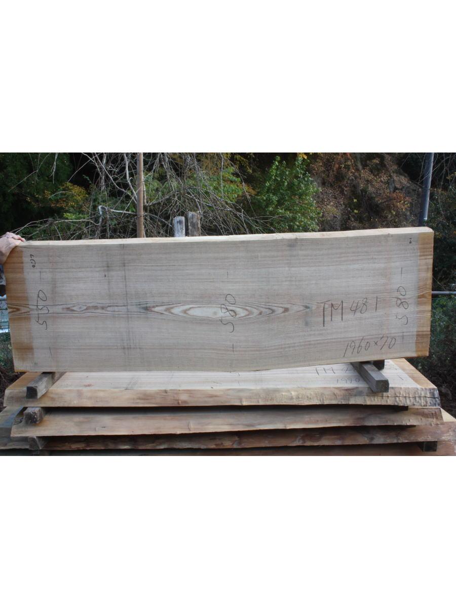 タモ一枚板TM481