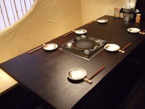 無垢店舗用テーブル